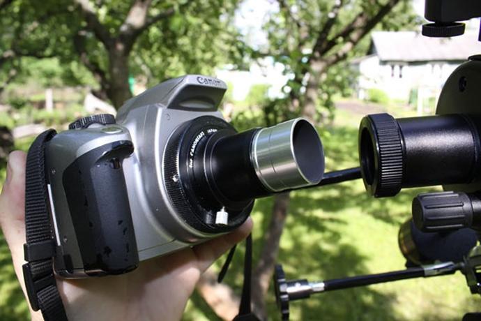 Как снимать через телескоп